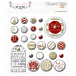 Teresa Collins Designs - Tinsel and Company Collection - Christmas - Decorative Brads