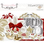 Teresa Collins Designs - Tinsel and Company Collection - Christmas - Ephemera Pack