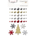 Teresa Collins - Tinsel and Company Collection - Christmas - Enamel Dots and Shapes