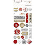 Teresa Collins Designs - Tinsel and Company Collection - Christmas - Decorative Buttons