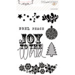 Teresa Collins Designs - Tinsel and Company Collection - Christmas - Clear Acrylic Stamps