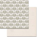 Teresa Collins Designs - Urban Market Collection - 12 x 12 Double Sided Paper with Glitter Accents - Damask
