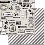 Teresa Collins Designs - Urban Market Collection - 12 x 12 Double Sided Paper - Collage