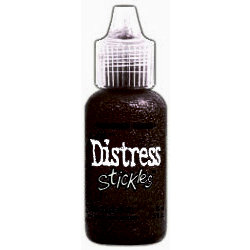 Ranger Ink - Tim Holtz - Distress Stickles Glitter Glue - Walnut Stain
