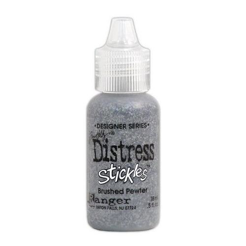 Ranger Ink - Tim Holtz - Distress Stickles Glitter Glue - Brushed Pewter