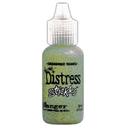 Ranger Ink - Tim Holtz - Distress Stickles Glitter Glue - Crushed Olive