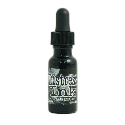 Ranger Ink - Tim Holtz - Distress Ink Reinkers - Black Soot