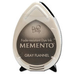 Tsukineko - Memento - Fade Resistant Dye Ink Pad - Dew Drop - Gray Flannel