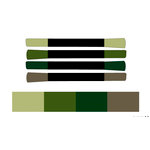 Tsukineko - Memento - Fade Resistant Markers - Central Park - Set of Four