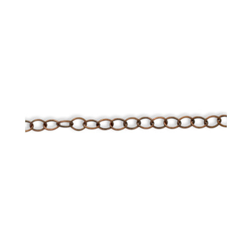 Vintaj Metal Brass Company - Metal Jewelry Chain - Extra Fine Oval