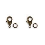 Vintaj Metal Brass Company - Metal Jewelry Hardware - Classic Lobster Clasp - 12mm