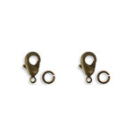 Vintaj Metal Brass Company - Metal Jewelry Hardware - Classic Lobster Clasp - 15mm
