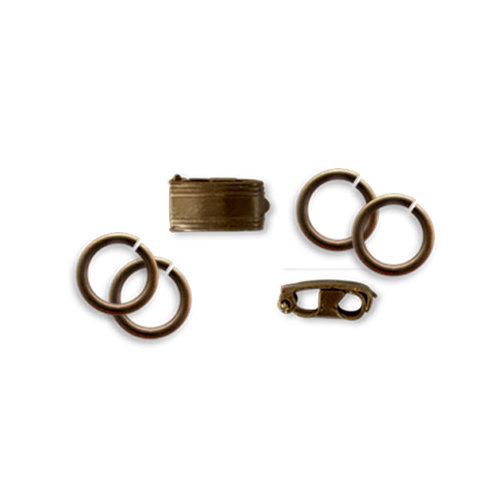Vintaj Metal Brass Company - Metal Jewelry Hardware - Bracelet Foldover Clasp