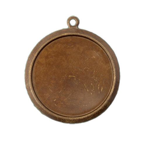 Vintaj Metal Brass Company - Metal Jewelry Charm - Classic Circle Bezel