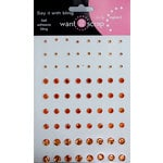 Want2Scrap - Say it With Bling - Adhesive Rhinestones - Orange