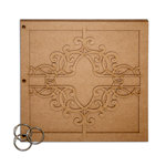 Want2Scrap - Bare it All - Chipboard Album - Leaded Crystal