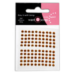 Want2Scrap - Say it With Bling - Adhesive Rhinestones - Baby Bling - Brown
