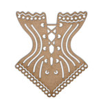 Want2Scrap - Chipboard Pieces - Corset