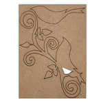 Want2Scrap - Chipboard Pieces - Large Bird Flourish