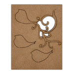 Want2Scrap - Chipboard Pieces - Small Bird Flourish