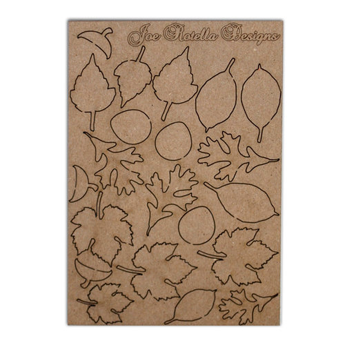 Want2Scrap - Chipboard Pieces - Leaves and Acorns
