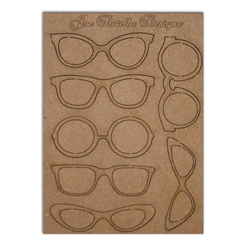 Want2Scrap - Chipboard Pieces - Retro Glasses