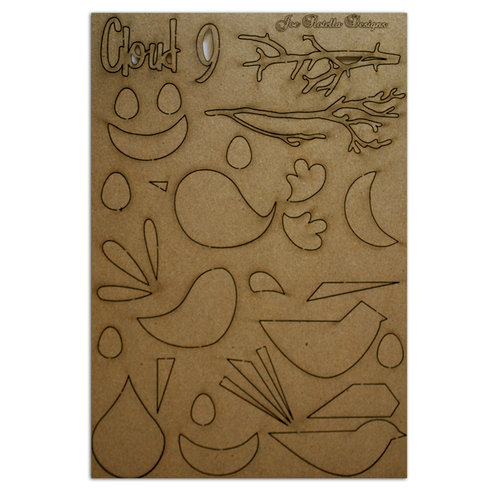 Want2Scrap - Chipboard Pieces - Retro Birds