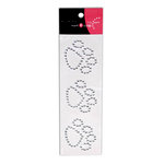 Want2Scrap - Say it With Bling - Self Adhesive Rhinestones - Paw Prints - Silver