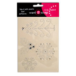 Want2Scrap - Say it With Bling - Christmas - Self Adhesive Rhinestones - Good Tidings - Silver