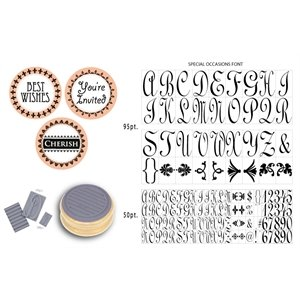 Mason Row - Special Occasions Monogram Set with Wood Block