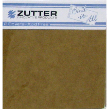 Zutter - Bind-It-All - Covers - 6.2x6.2 Inches - Kraft
