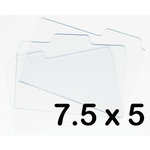 Bind It All - Zutter - Clear Acrylic Folder Tabs - 3 Pieces - 7.5x5