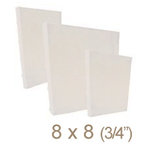 Zutter - 8 x 8 Cover All - Three Quarter Inch Bamboo Spine - White