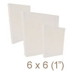 Zutter - 6 x 6 Cover All - One Inch Bamboo Spine - White