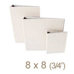 Zutter - 8 x 8 Cover All - Three Quarter Inch Flat Spine - White, CLEARANCE