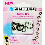 Zutter - D's - Metal D-Rings - Antique Silver