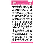 Pink Paislee - Holly Doodle Alphabet Stickers - Black