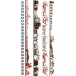 Pink Paislee - Mistletoe and Co. Collection - Christmas - Clear Stickers - Borderlines, BRAND NEW