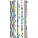 Pink Paislee - Bayberry Cottage Collection - Clear Stickers - Borderlines