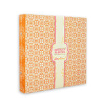 Pink Paislee - Artisan Collection - 8 x 8 Canvas Album - Orange