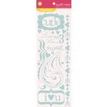 Pink Paislee - Sweetness Collection - Glittered Cardstock Stickers - Elements