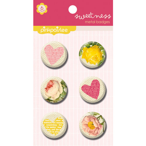 Pink Paislee - Sweetness Collection - Metal Badges