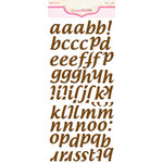 Pink Paislee - Expressions - Foam Stickers - Cushies - Alphabet - Cocoa