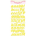 Pink Paislee - Expressions - Foam Stickers - Cushies - Alphabet - Lemon