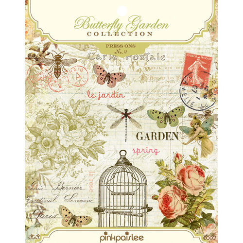 Pink Paislee - Butterfly Garden Collection - Press Ons, BRAND NEW