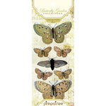 Pink Paislee - Butterfly Garden Collection - Clear Pops - 3 Dimensional Stickers with Glitter Accents, CLEARANCE