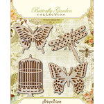 Pink Paislee - Butterfly Garden Collection - Wood Shapes, BRAND NEW
