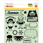 Pink Paislee - Hometown Summer Collection - Clear Acrylic Stamp Set - Impressions