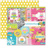 Pink Paislee - House of Three - Soiree Collection - 12 x 12 Double Sided Paper - Collage