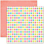 Pink Paislee - House of Three - Soiree Collection - 12 x 12 Double Sided Paper - Diamond